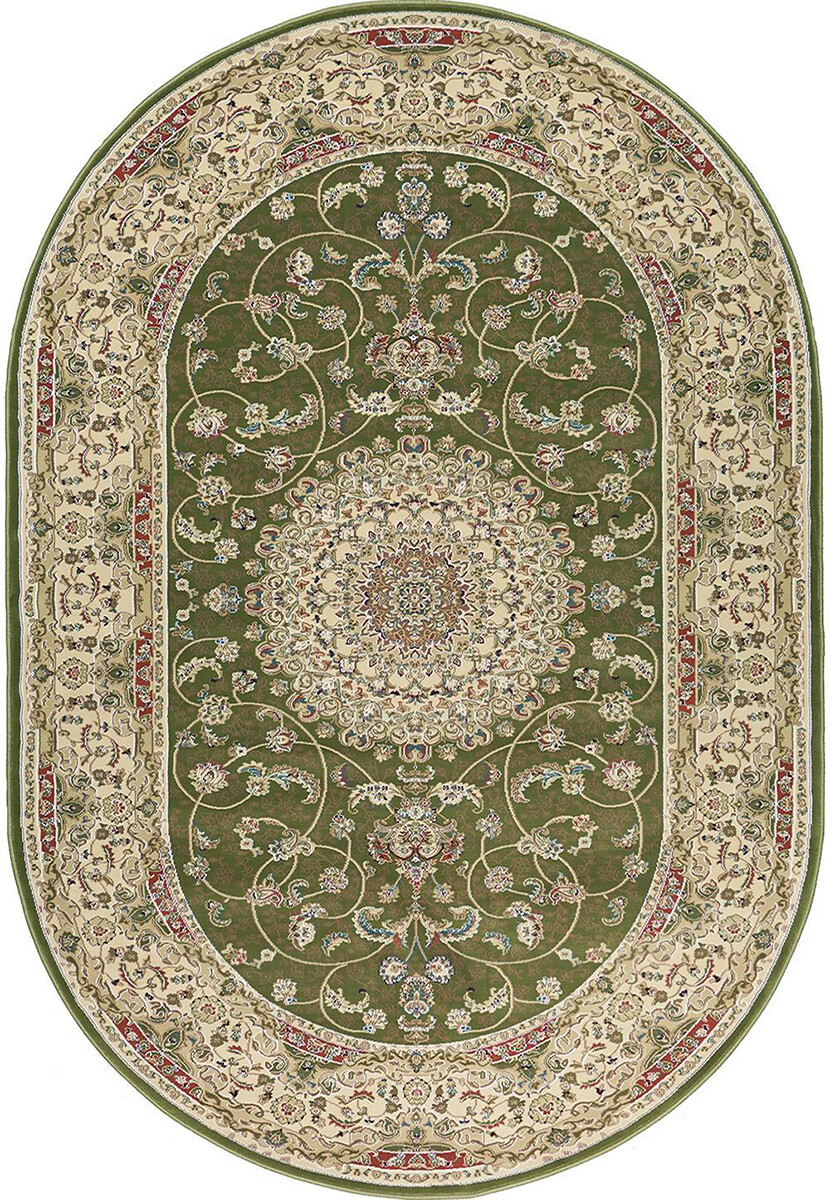 Royal Esfahan 2194B green-cream овал